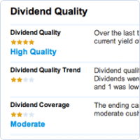 Dividend quality report