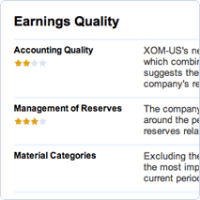 Earnings quality report